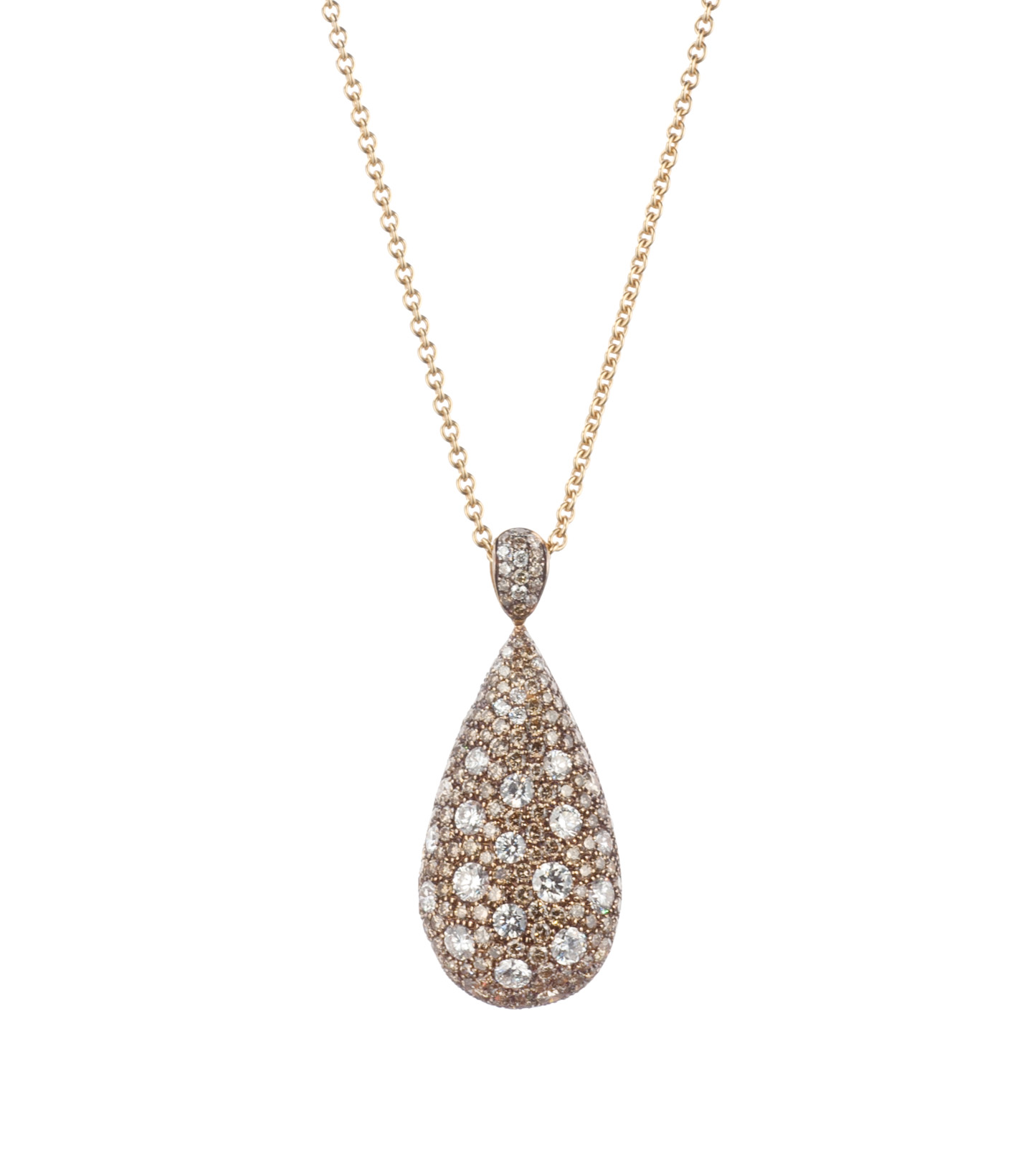 Rose gold and brown diamond necklace