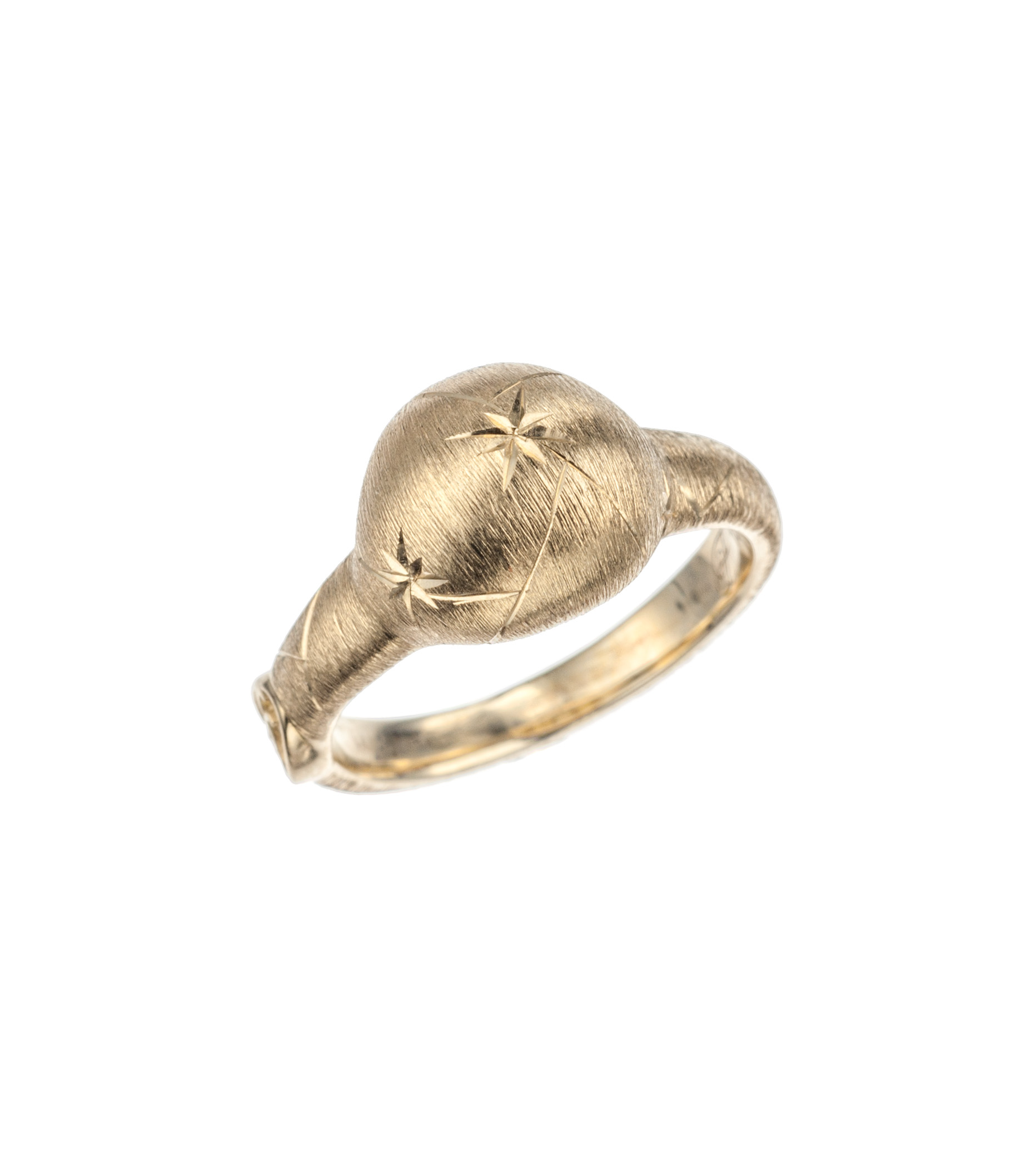 """""""Constellation"""" gold dome ring in 18-karat yellow gold"""