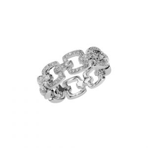 "Diamond ""Chain Link"" Ring"