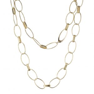 Hammered Link 18Kt Yellow Gold Necklace