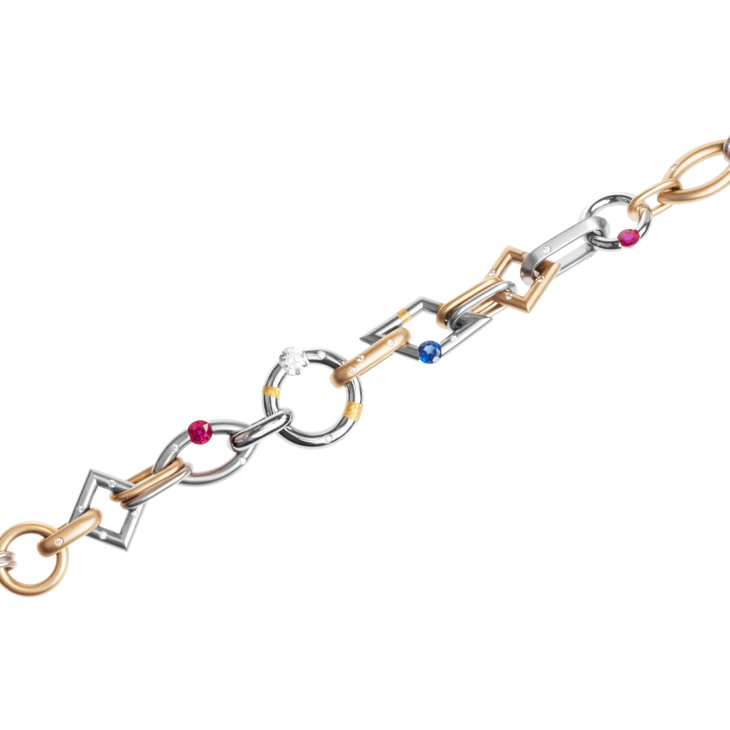 "Steven Kretchmer ""Jazz"" bracelet in yellow gold and platinum"