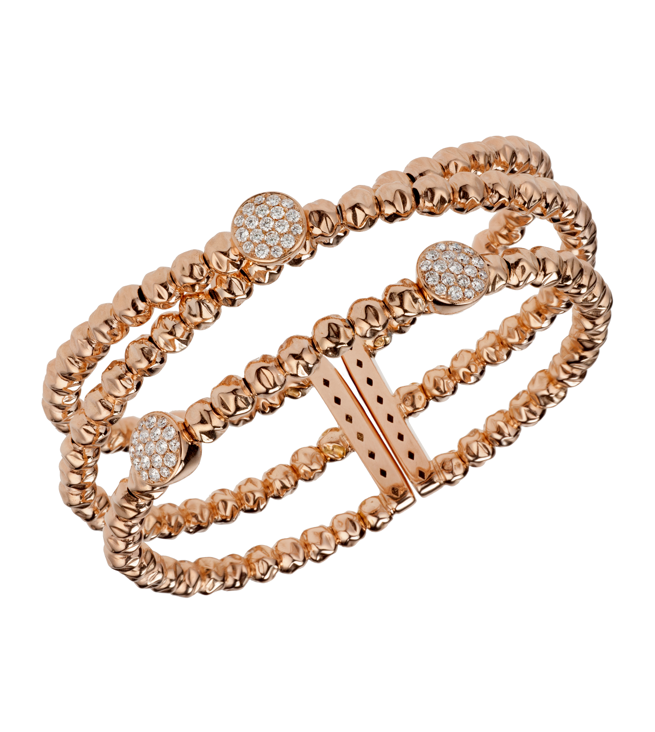 Damaso Martinez diamond and 18-karat rose gold bracelet