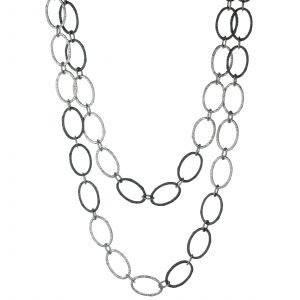 Oval-link chain necklace