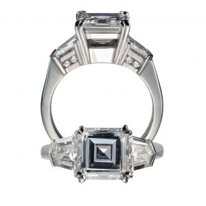 Shield-Cut Diamond Semi-Mounting