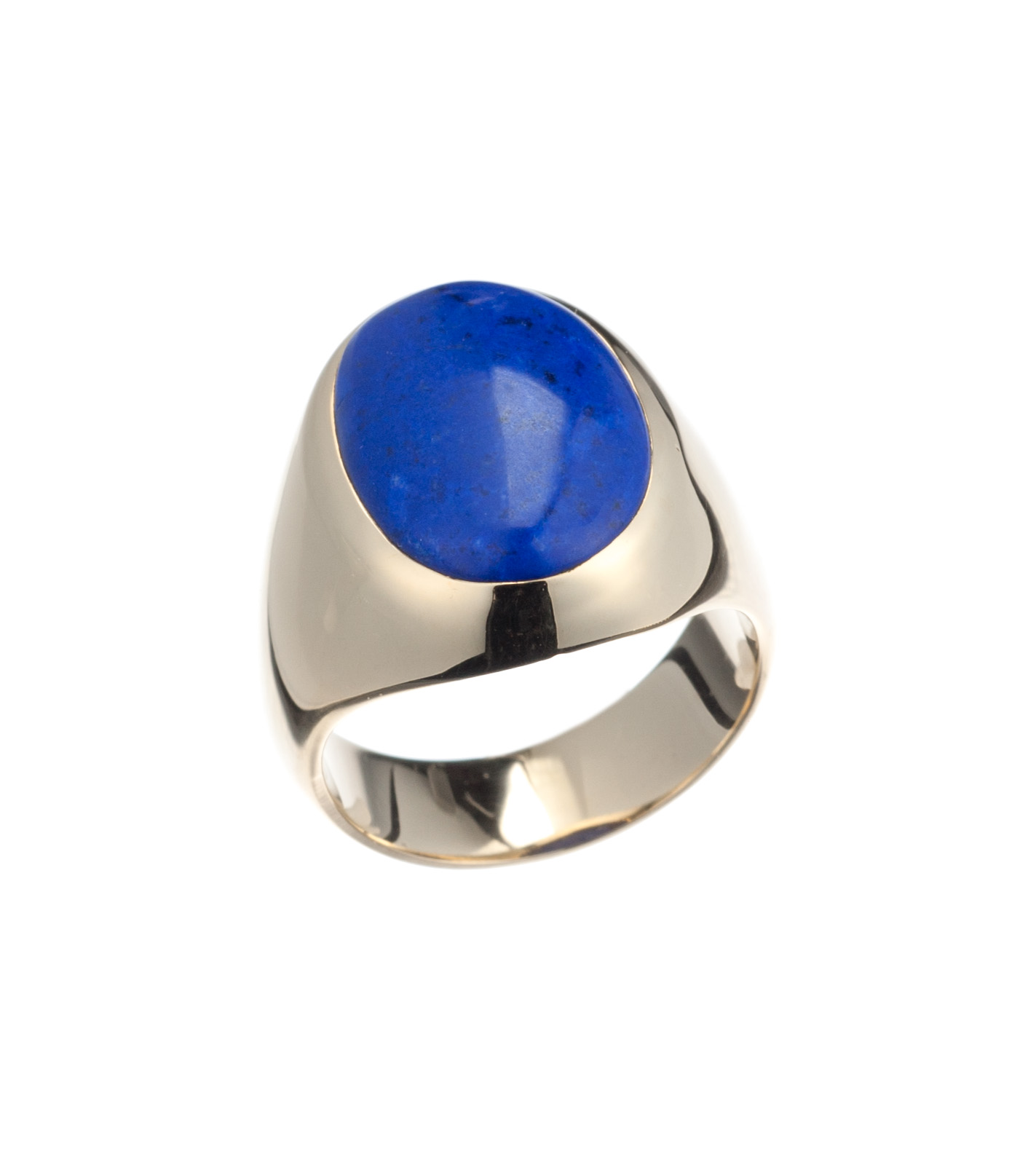 Lapis gent's ring in 14-karat yellow gold