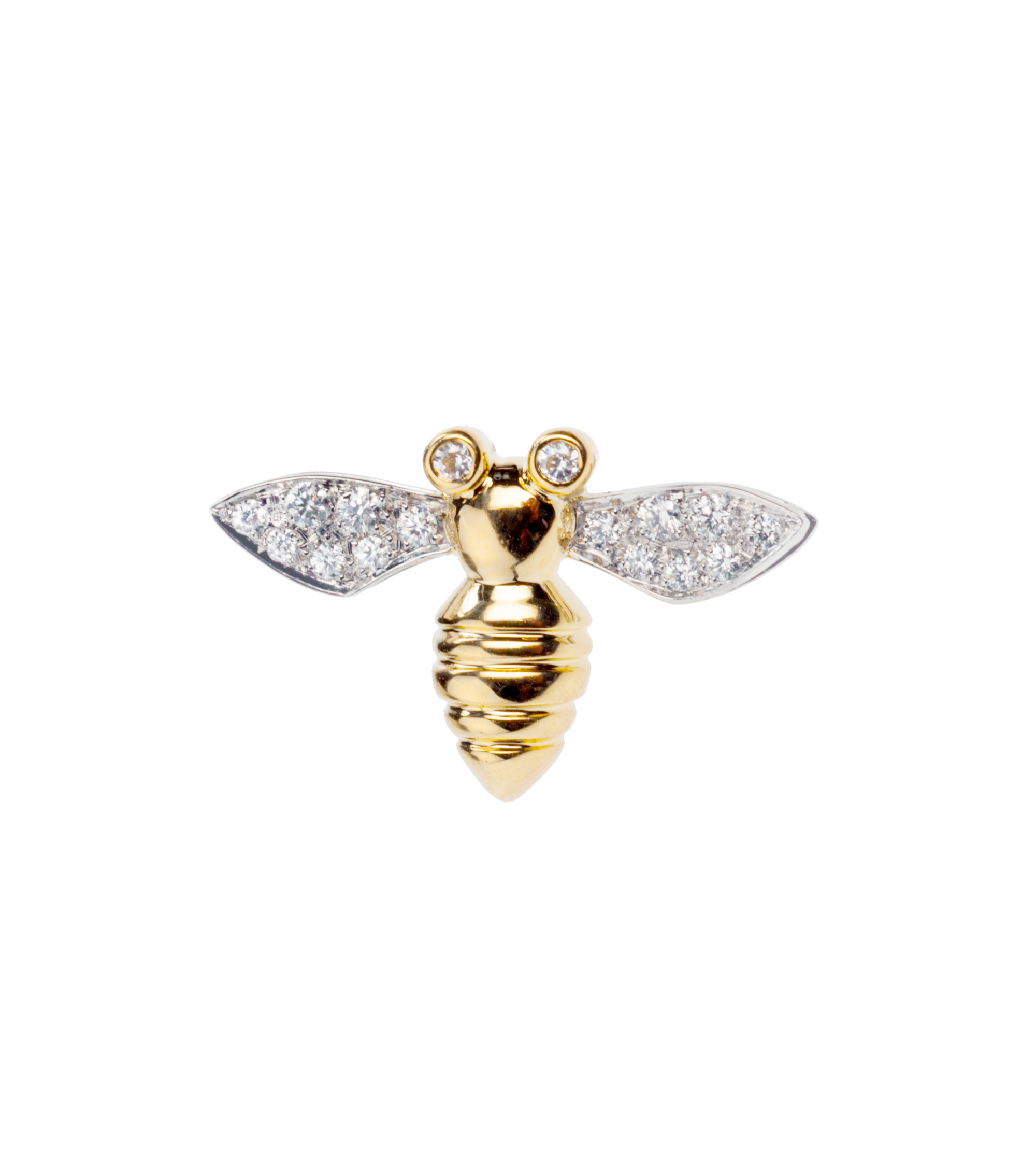 Michael Bondanza Diamond bee brooch/tack