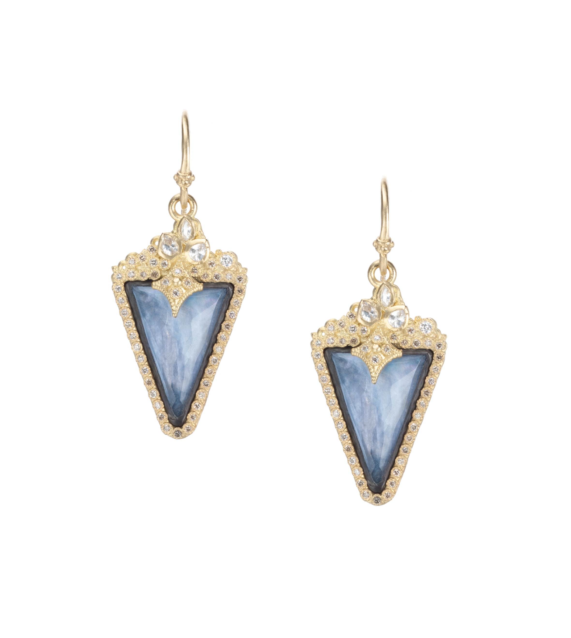 Armenta 'Old World' sapphire and quartz drop earrings