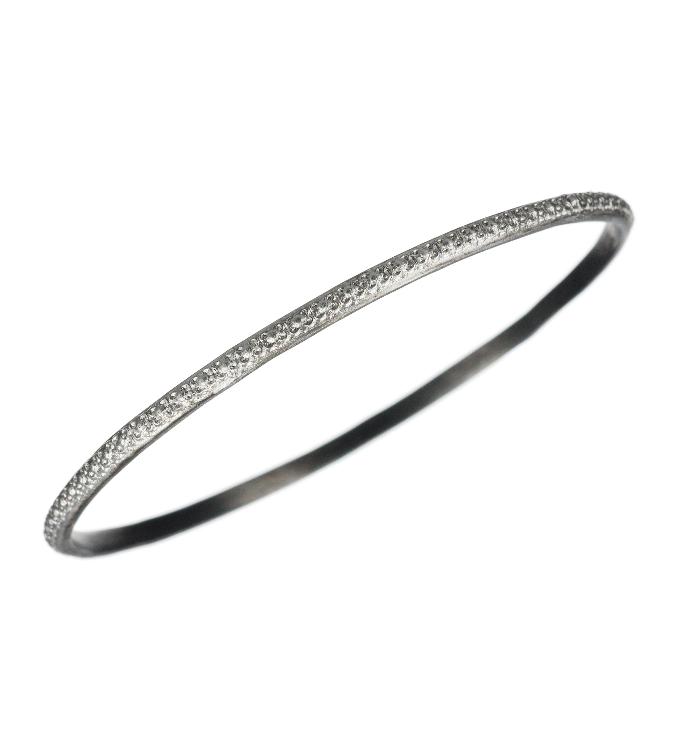 Oxidized sterling silver bangle