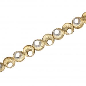 """Eclissi"" 18-karat yellow gold and diamond bracelet"