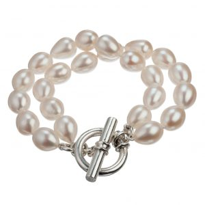 EH Signature double-strand pearl bracelet
