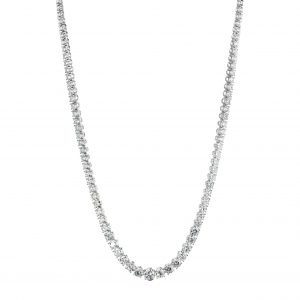 Diamond platinum riviera necklace