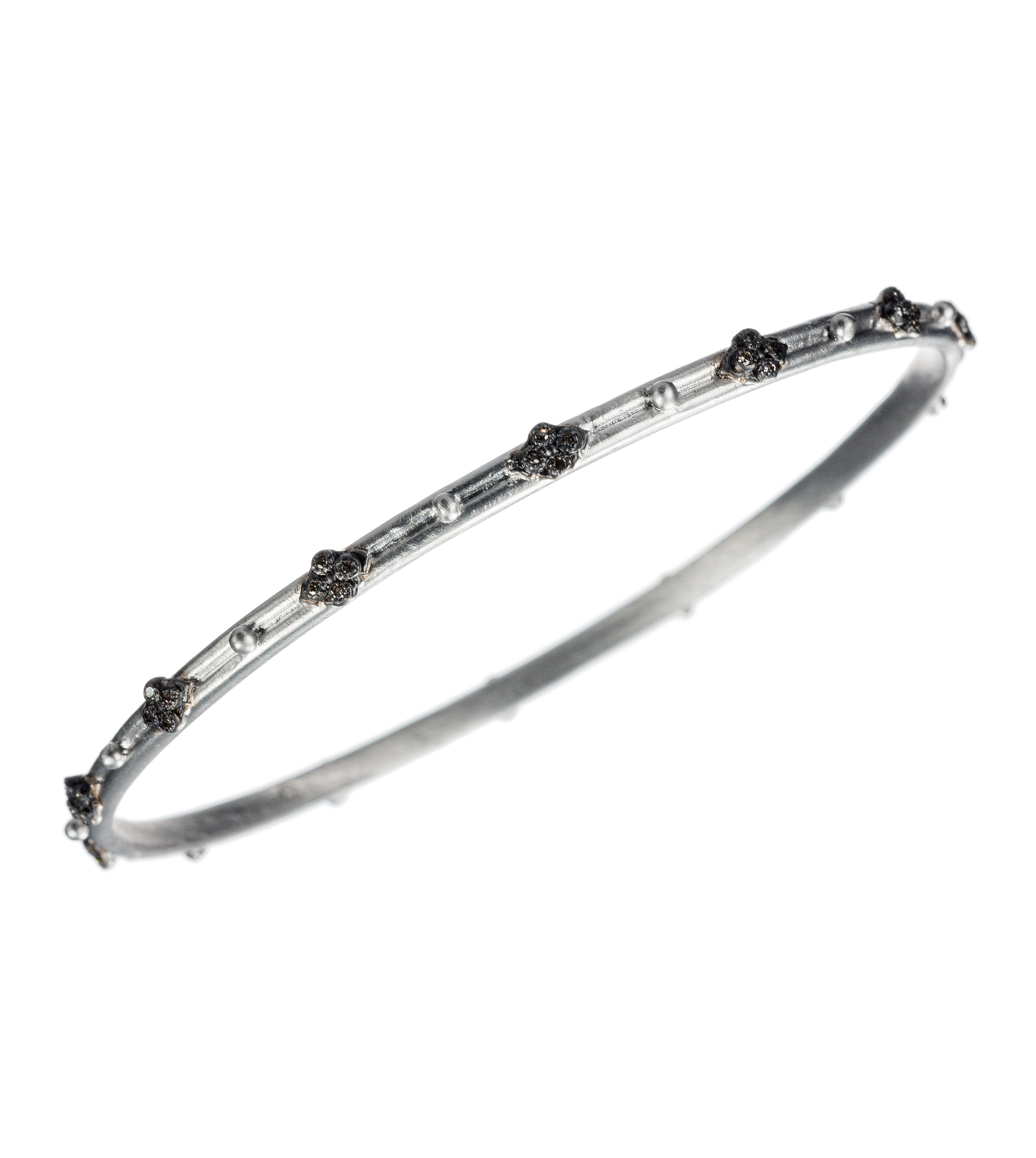 """Cravelli"" narrow silver bangle"