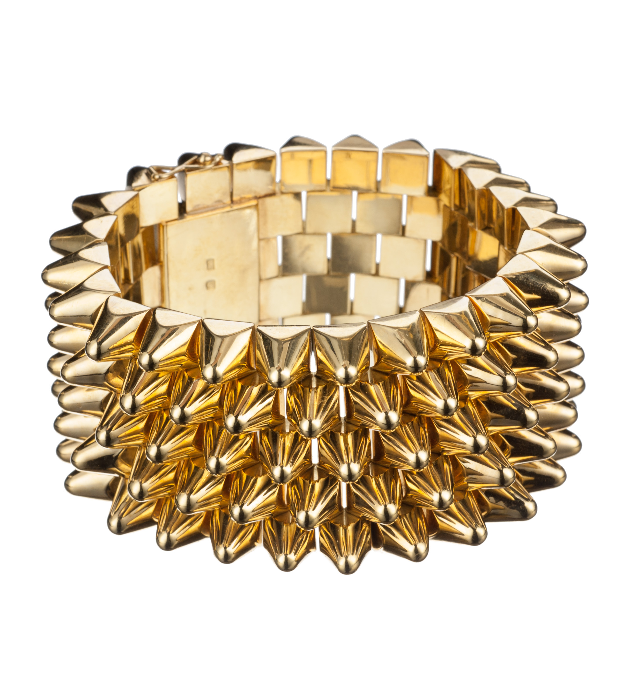Studded 18-karat yellow gold bracelet