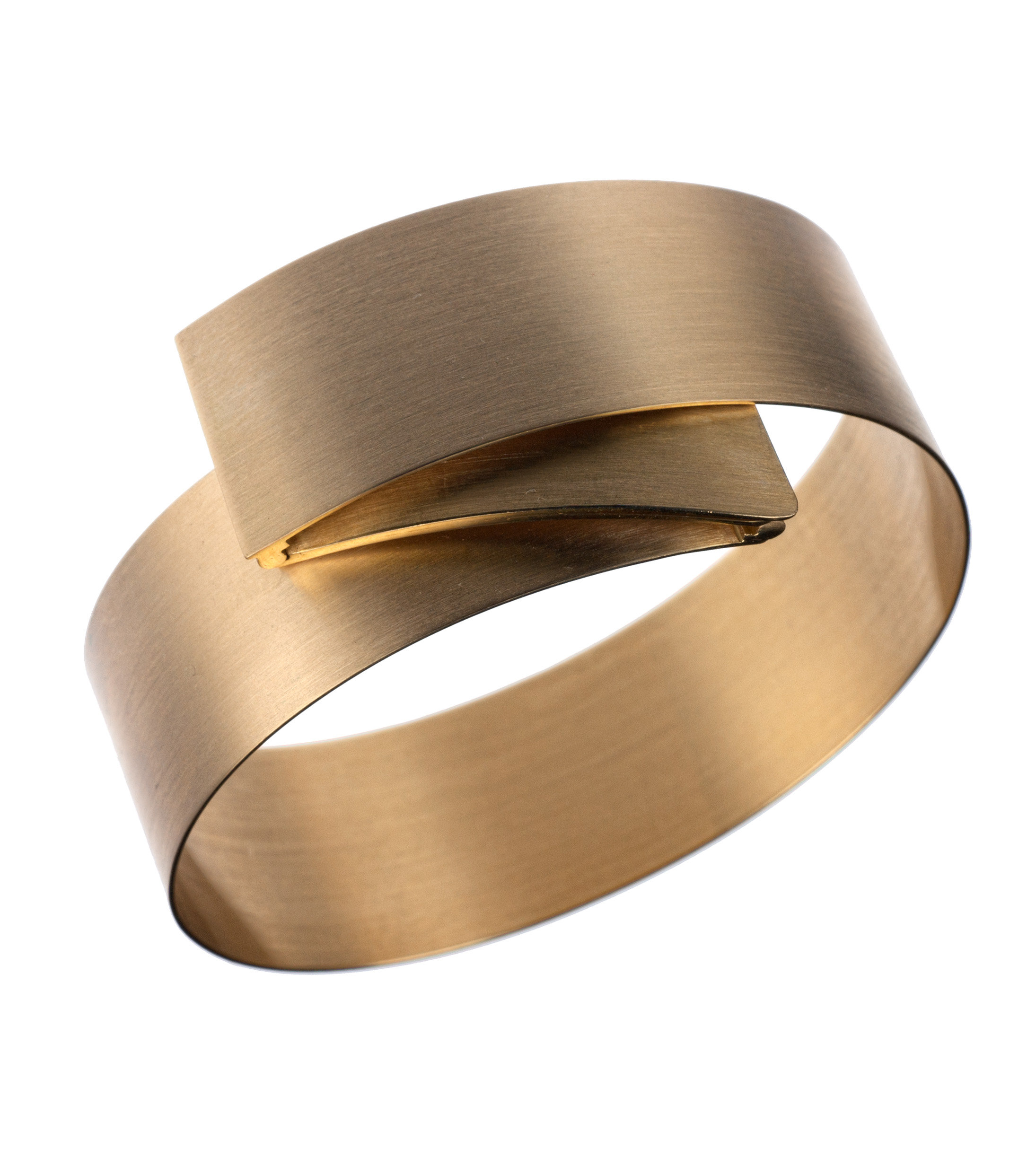 Isabelle Fa folding bangle bracelet in 18-karat yellow gold