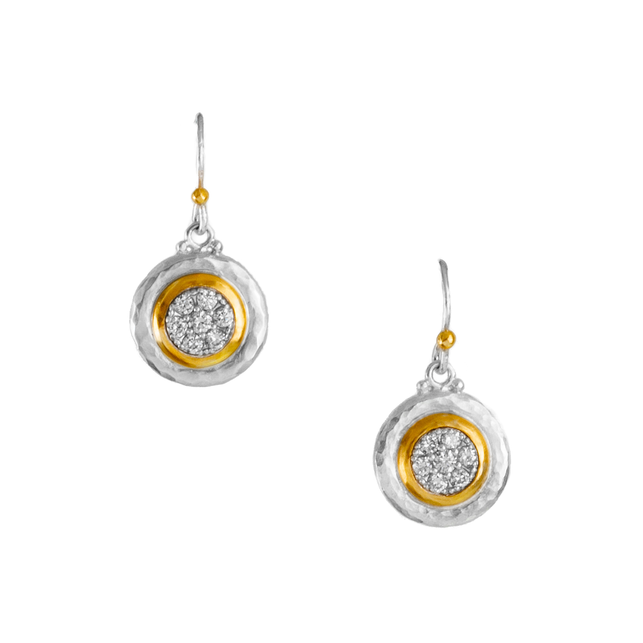 """Moonstruck"" dangle button earring"