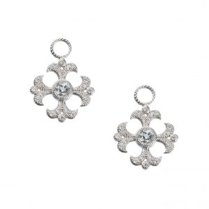 "Judefrances ""Fleur Cross"" Earring Charms"