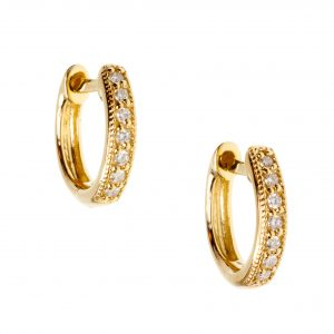 Judefrances Small Diamond Hoop Earrings