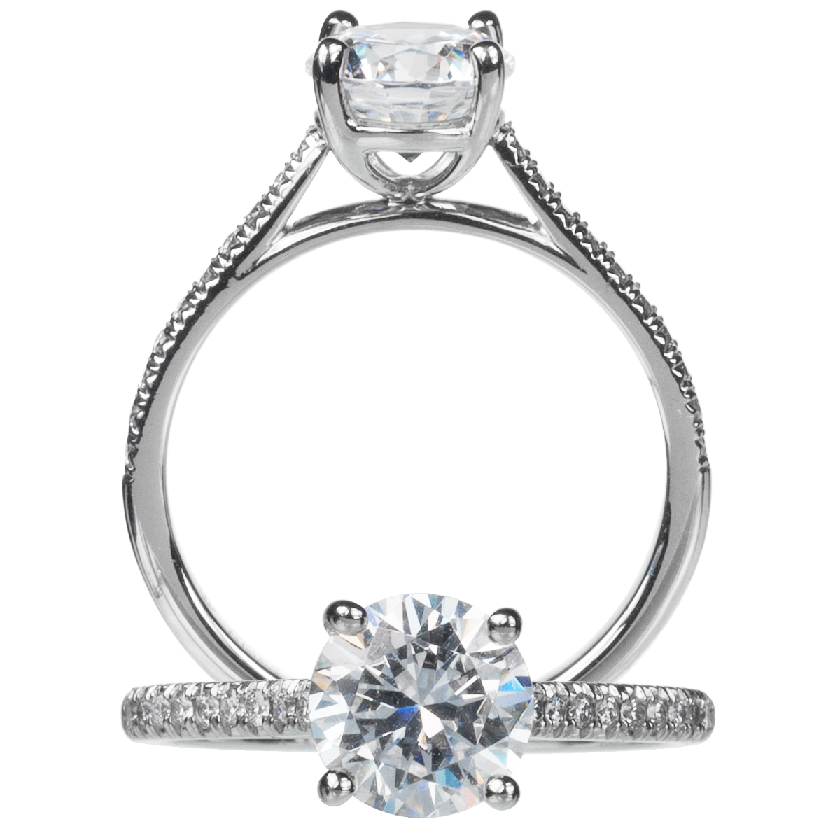"""New Aire"" Shared-Prong Solitaire Semi-Mounting"