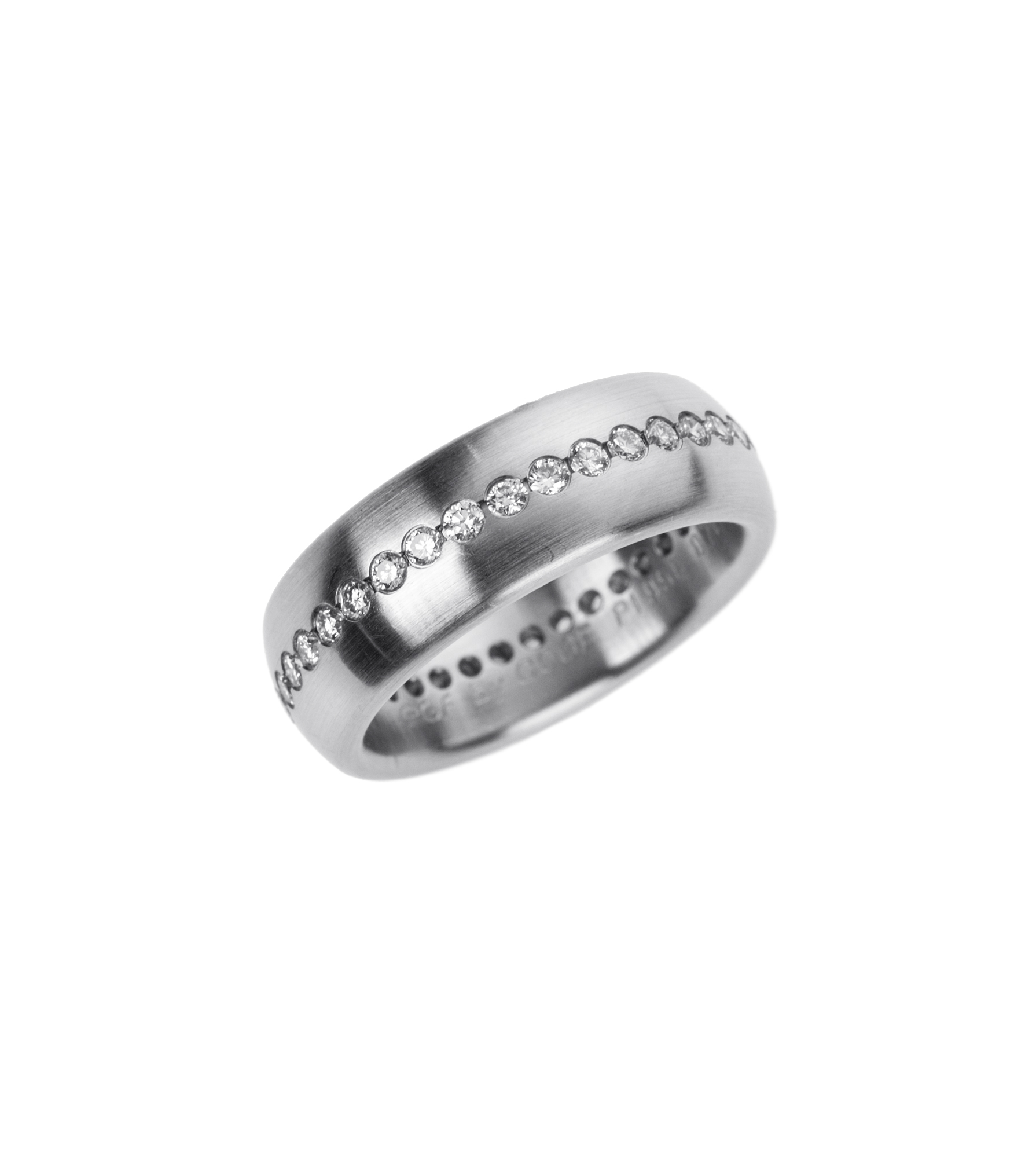 Diamond and platinum eternity band