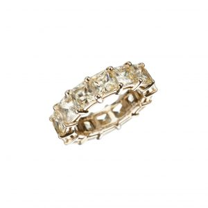 Fancy Yellow Radiant-Cut Diamond Eternity Band