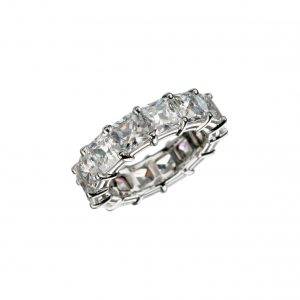 Princess-Cut Diamond Eternity Band