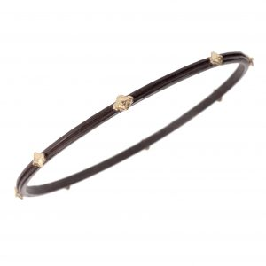 """Cravelli"" narrow oxidized bangle"