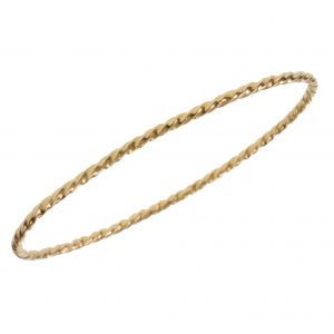"""Seven Days A Week"" Single Twist Bangle Bracelet"