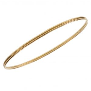 """Seven Days A Week"" Ridged Bangle Bracelet"
