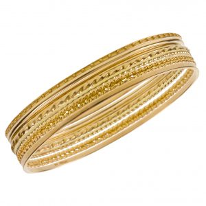 "Complete Set Of ""Seven Days A Week"" Bangle Bracelets"