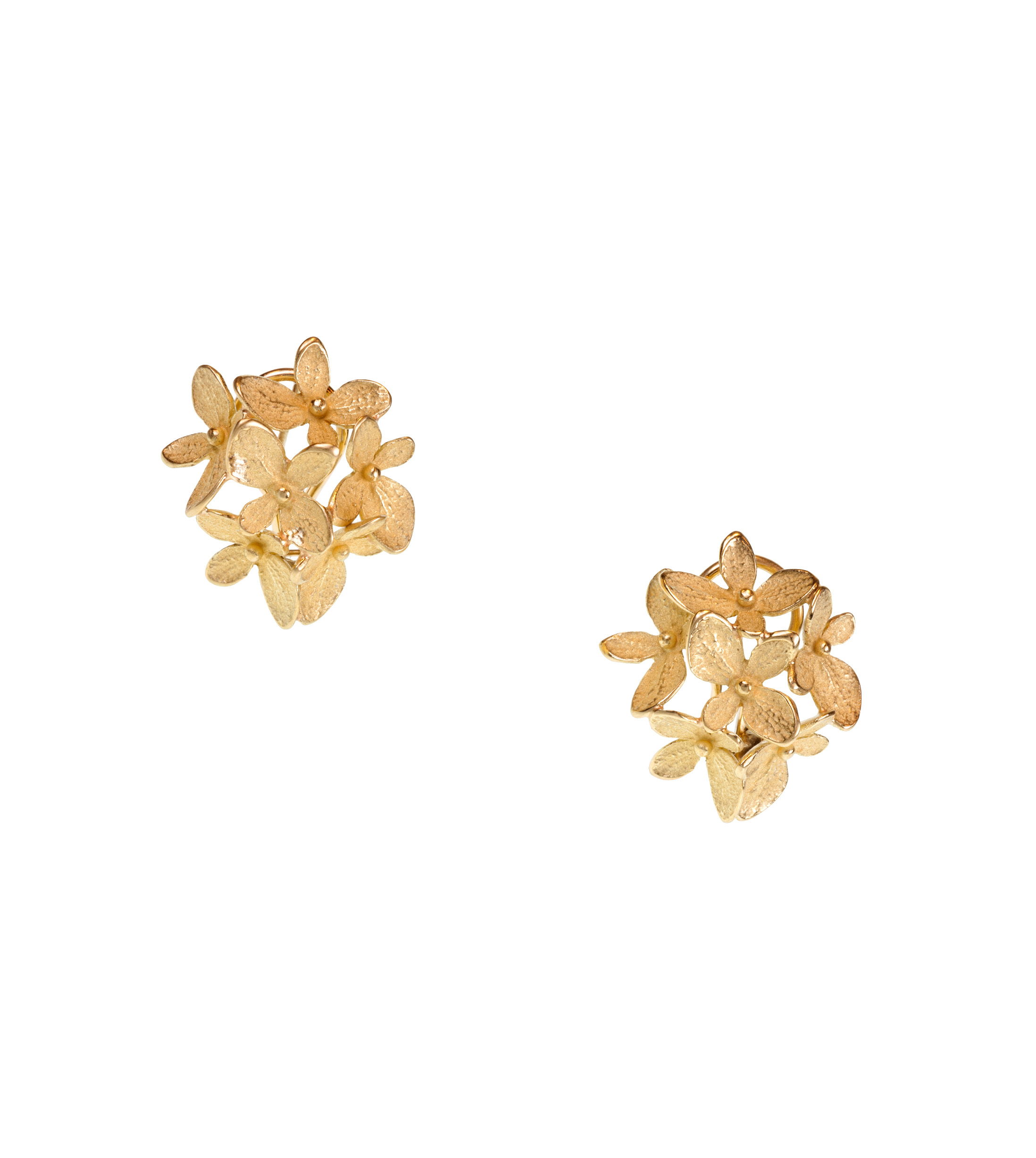Hydrangea cluster earrings