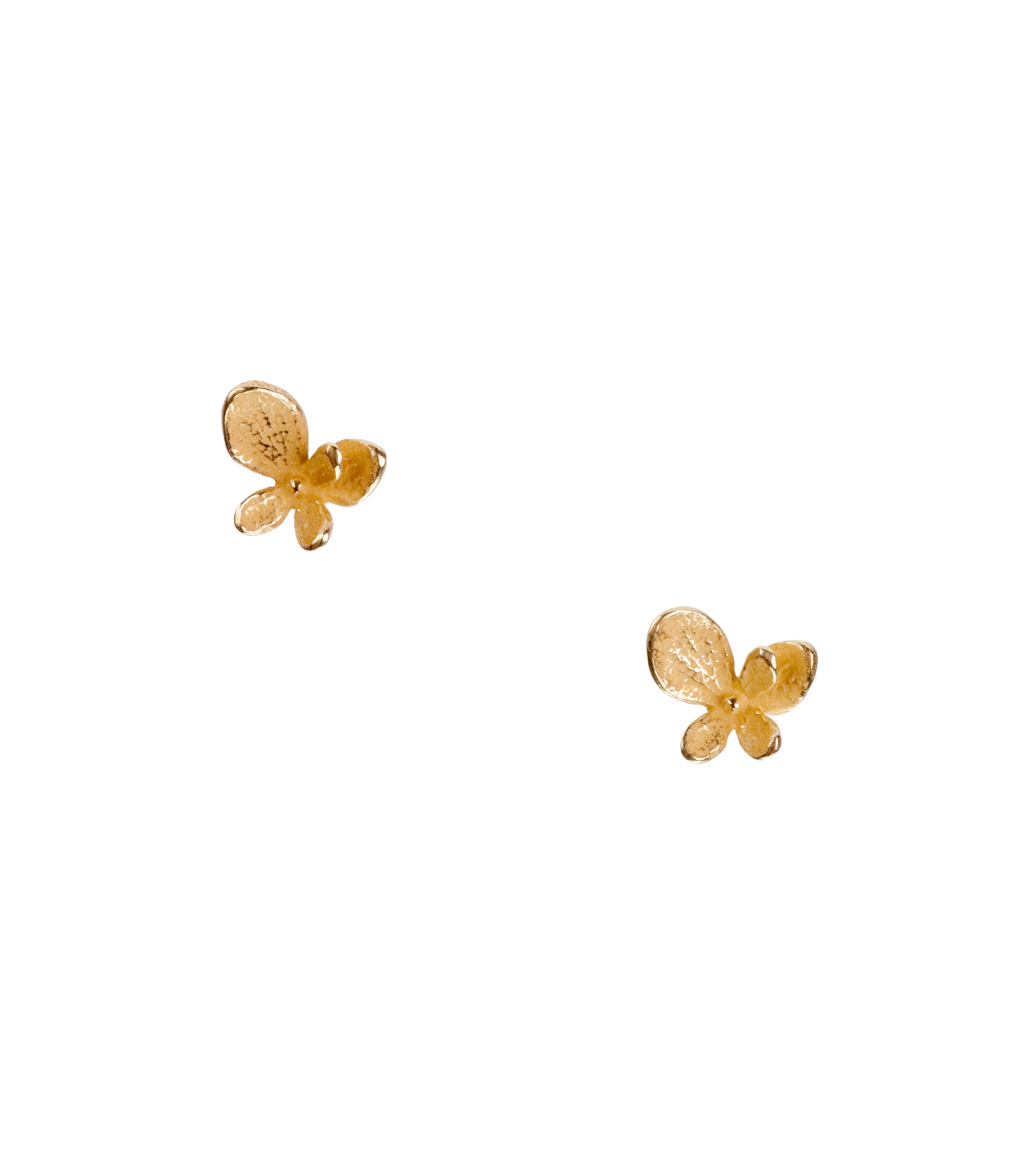 Small single hydrangea stud earrings