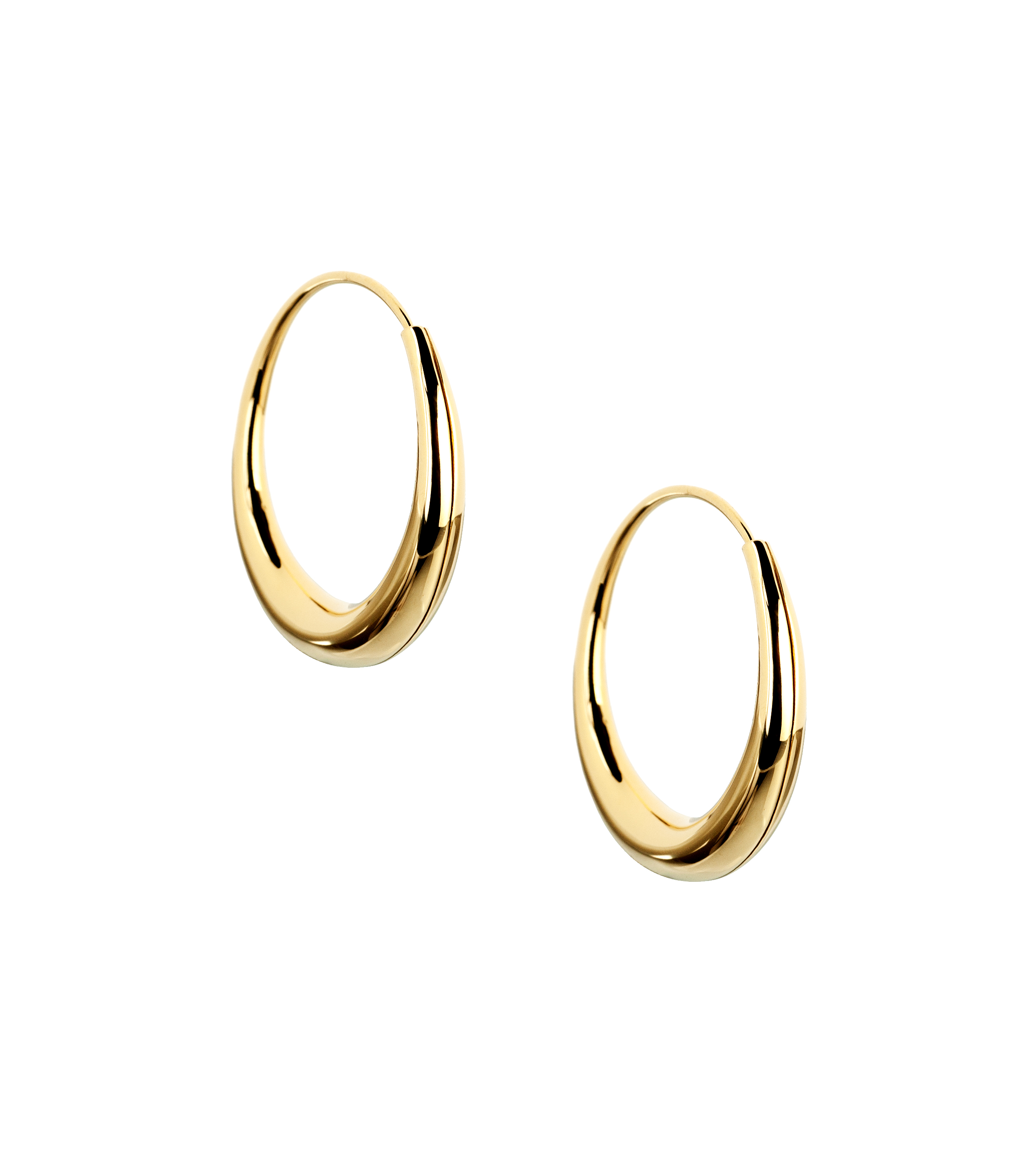 Mini round hoop earrings