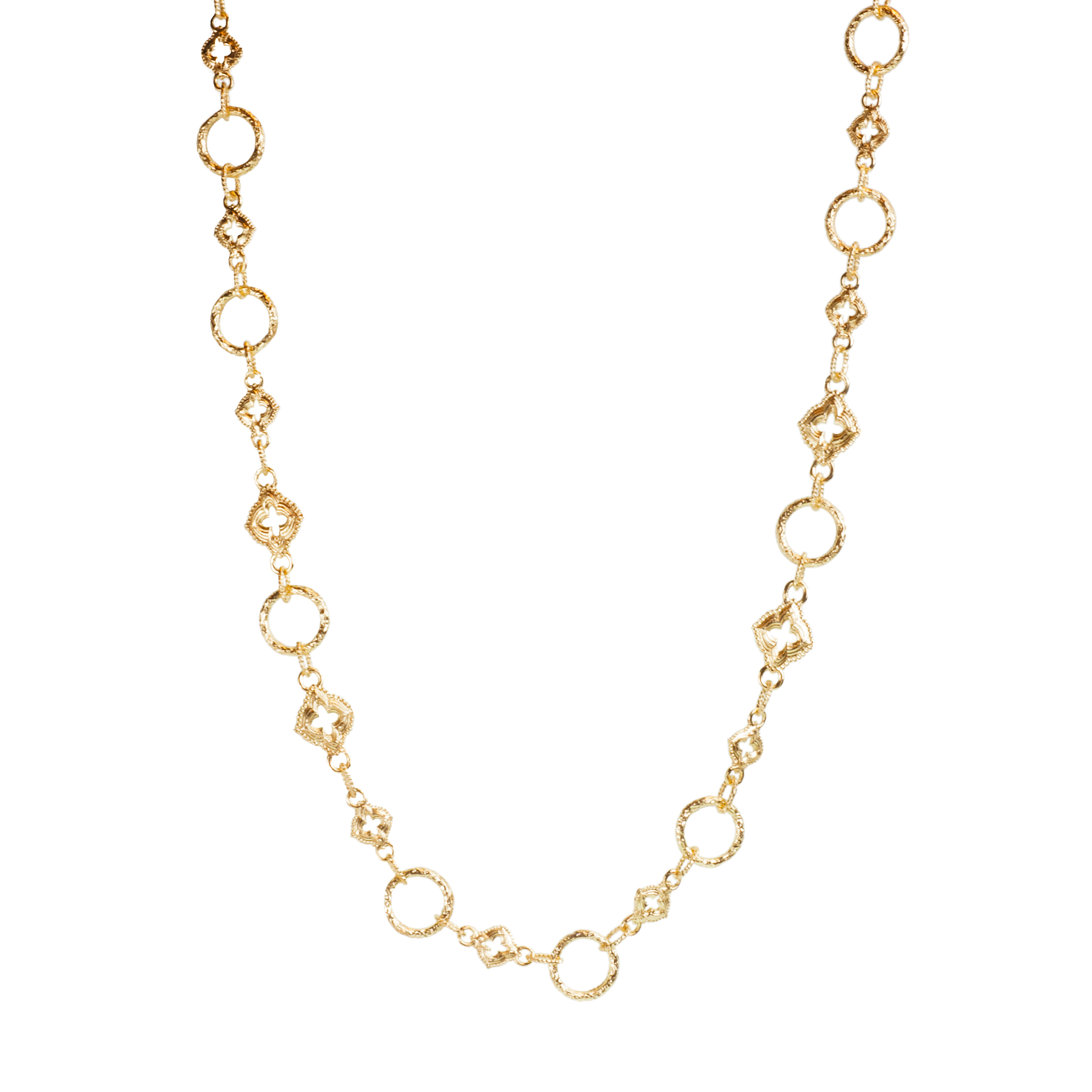 Sculpted chain necklace
