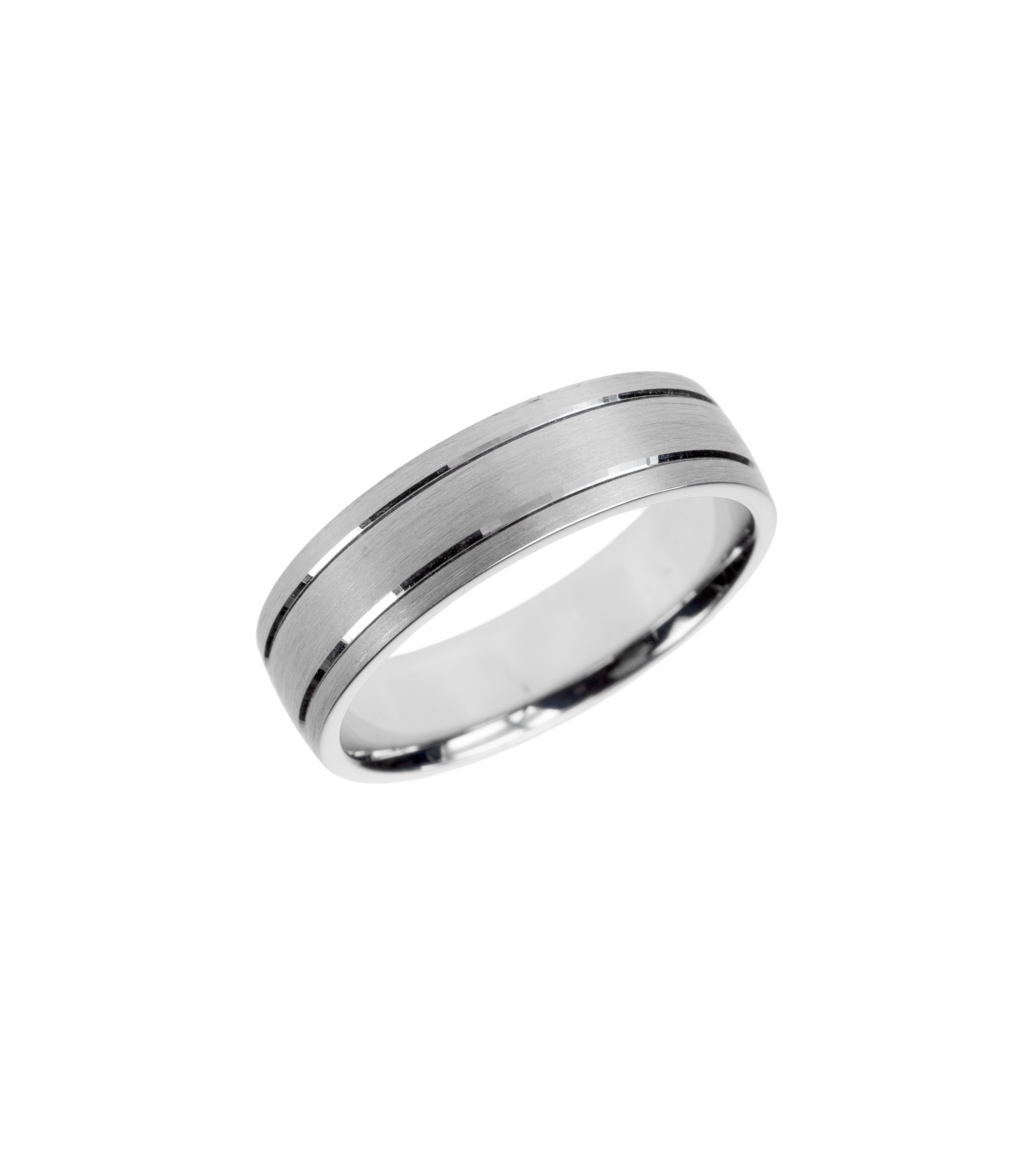 Satin-finished gent's wedding band
