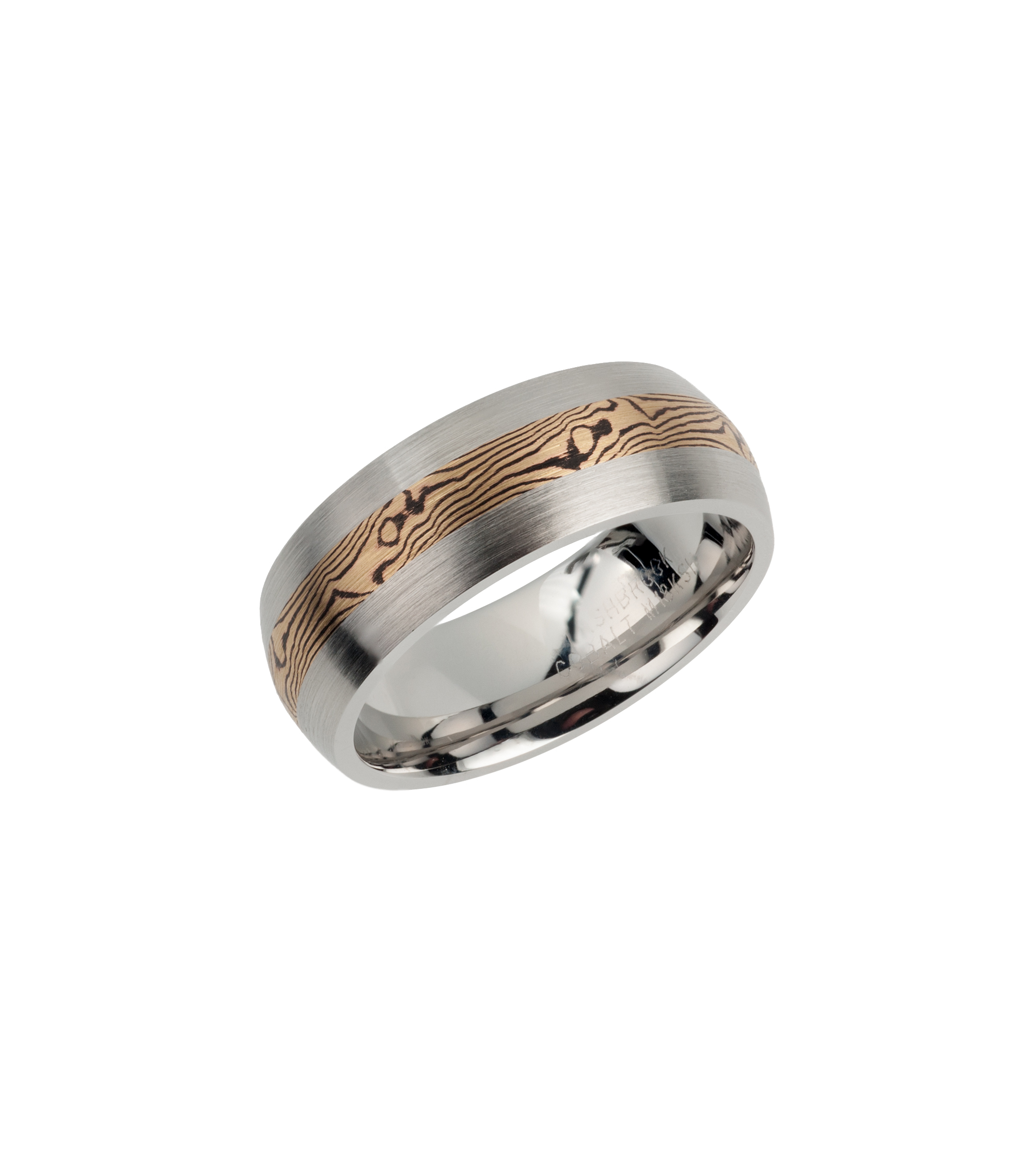 """Woodgrain"" wedding band"