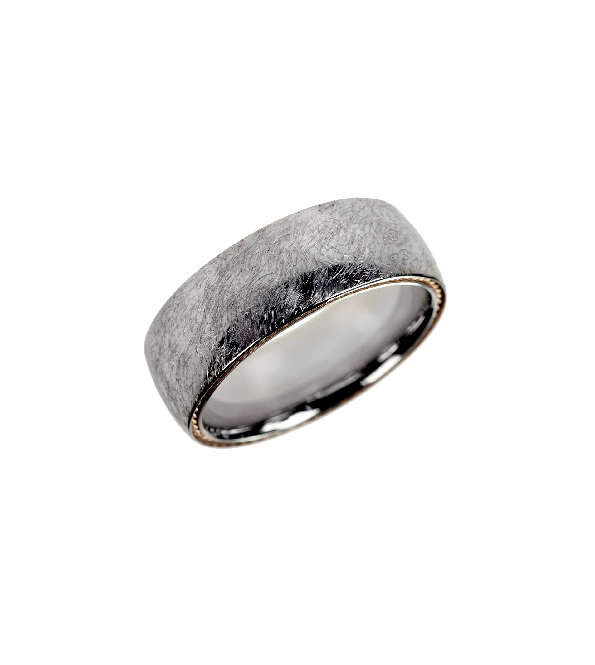 Cobalt-chrome men's wedding band