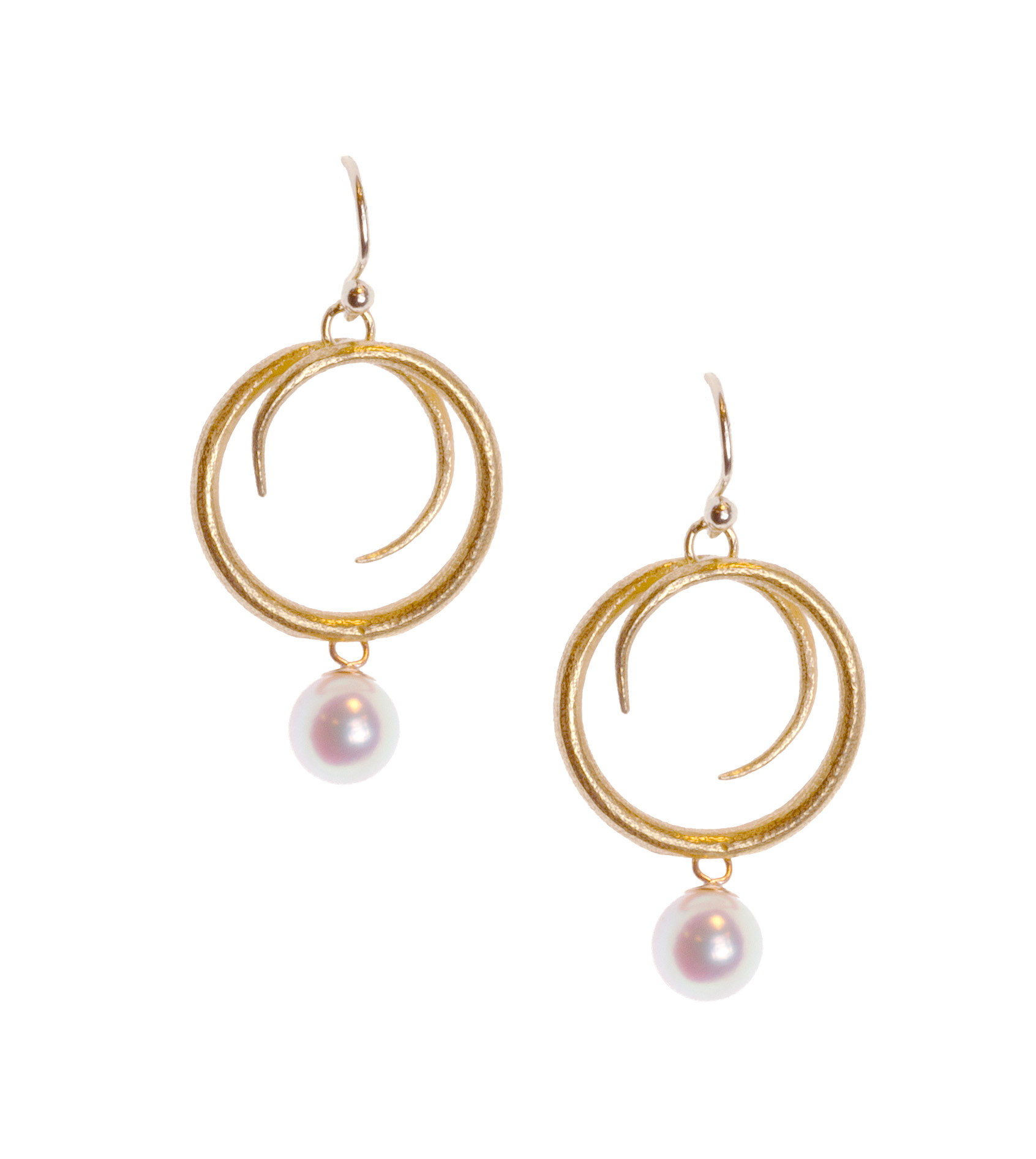 """Susan"" pearl earrings"