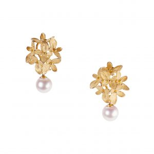 Hydrangea Pearl Drop Earrings