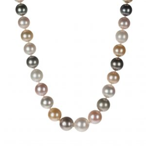 Single-Strand Multi-Color Tahitian Cultured Pearl Necklace