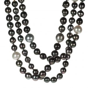 Single-Strand Tahitian And South Sea Cultured Pearl Necklace
