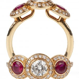 Ritani Ruby Three-Stone Ring