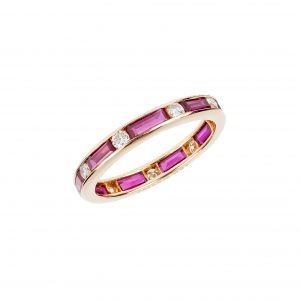 "Ruby ""Dot-Dash"" Eternity Band"