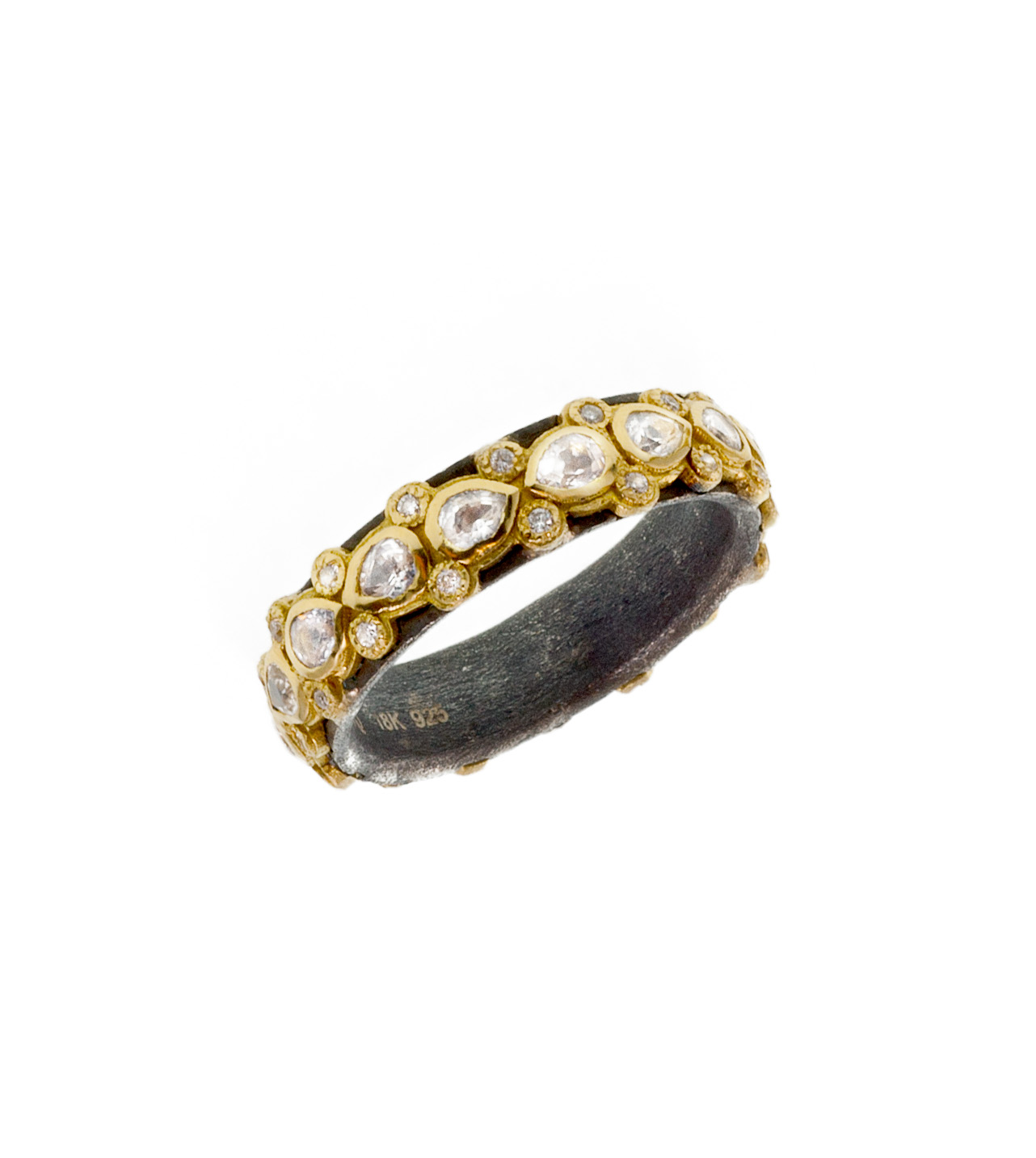 """""""Lacy"""" pear eternity sapphire ring"""