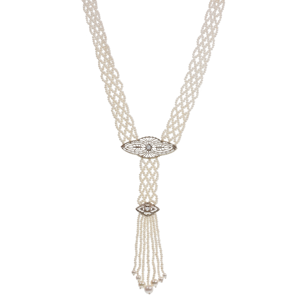 Sautoir tassel necklace