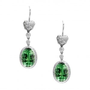 Tsavorite garnet drop earrings