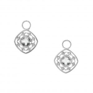 "Judefrances ""Cushion Topaz"" Earring Charms"