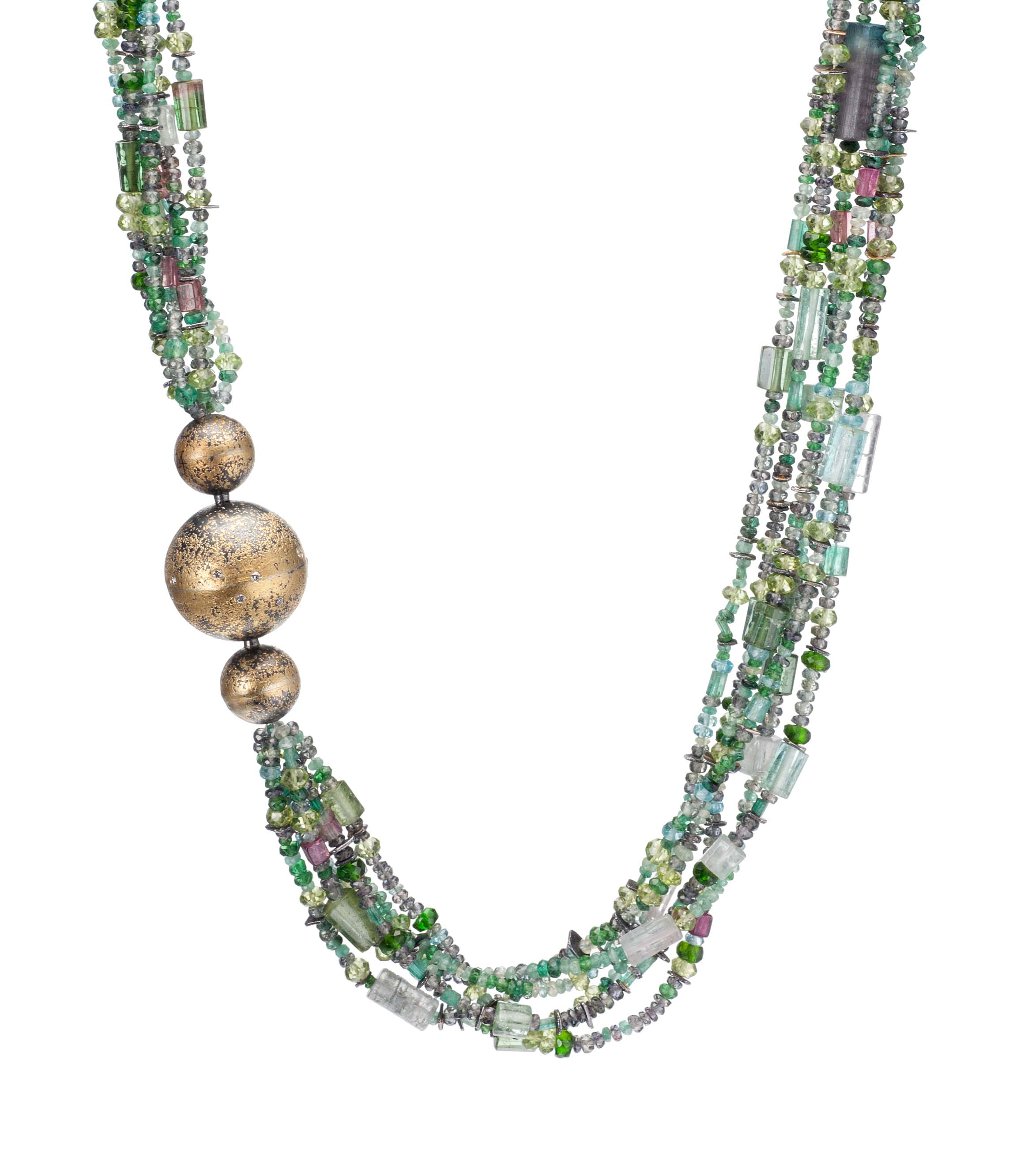 Mixed-gemstone necklace