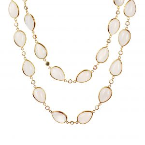 Arunashi moonstone and sapphire necklace