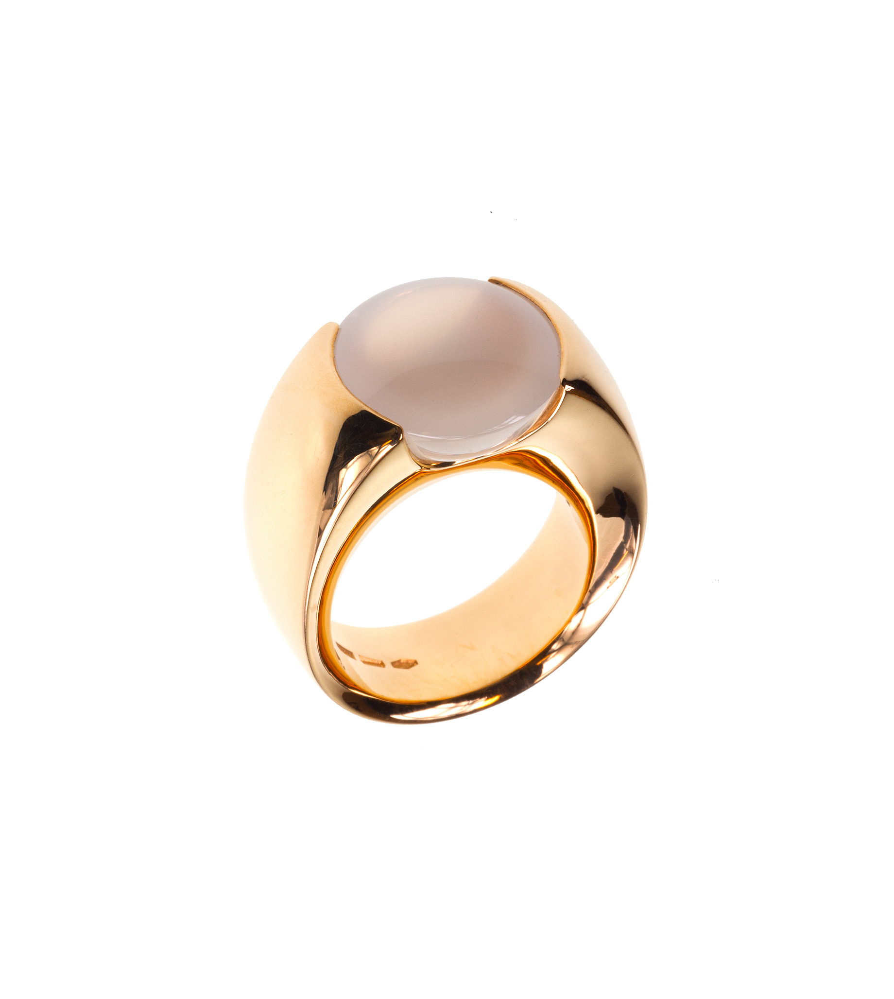 18K Rose Gold and Pink Opal Bon Bon Ring