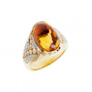 "Michael Bondanza ""Venti"" Citrine Ring"